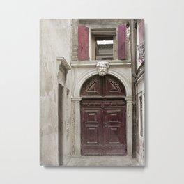 Venetian Door in Eggplant Purple Metal Print