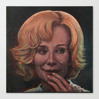 jessica lange Canvas Prints featuring Jessica Lange by zinakorotkova