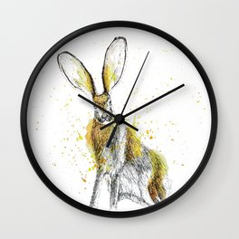 Jack Rabbit I Wall Clock