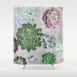 Simple succulents Shower Curtain