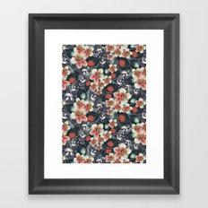exotic floral Framed Art Print