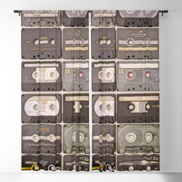 Cassette Tape Wall Retro Decor Tapes Blackout Curtain