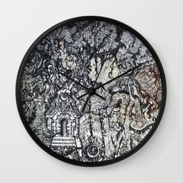 ' Templez Ov The Minde ' By: Matthew Crispell Wall Clock