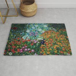 Flower Garden Riot of Colors by Gustav Klimt Rug