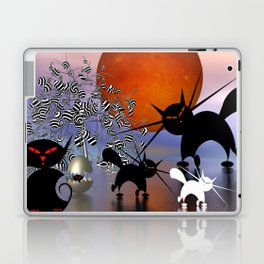 mooncats and the aliens Laptop & iPad Skin