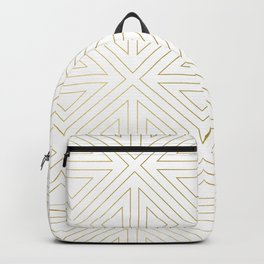 Angled White Gold Backpack
