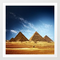 egypt Art Prints featuring Egypt by eARTh