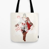assassins creed Tote Bags featuring Assassins Creed: Ezio Auditore da Firenze by Nissie