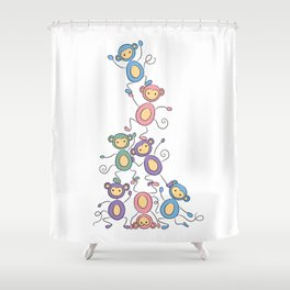 Dominance Hierarchy Shower Curtain