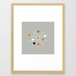 Retro Spoke and Beads - Mid Century Modern Print Framed Art Print