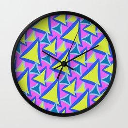 Neon Drawn Triangle Wall Clock