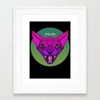 sphynx Framed Art Prints featuring SPHYNX by SHIN DE☆LUXE