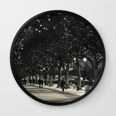 Night and lights Wall Clock