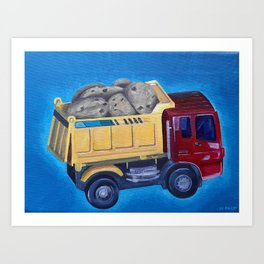 SUPER mini dump truck Art Print