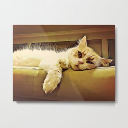 Life Is So Exhausting, I think I'll Just Have A Little Nap Metal Print