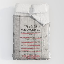 The Seven Commandments - Animal Farm Comforters