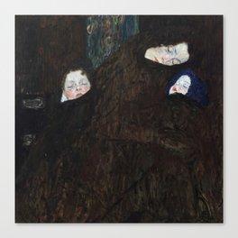 Gustav Klimt - Mutter mit zwei Kindern (Familie) Canvas Print