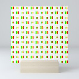 Flag of senegal 2 Handmade Mini Art Print