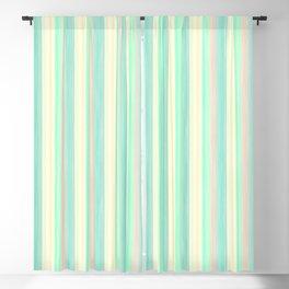 Turquoise Light Yellow Scrapbook Sherbert Blackout Curtain
