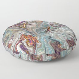 Abstract Oil Painting 9 Floor Pillow