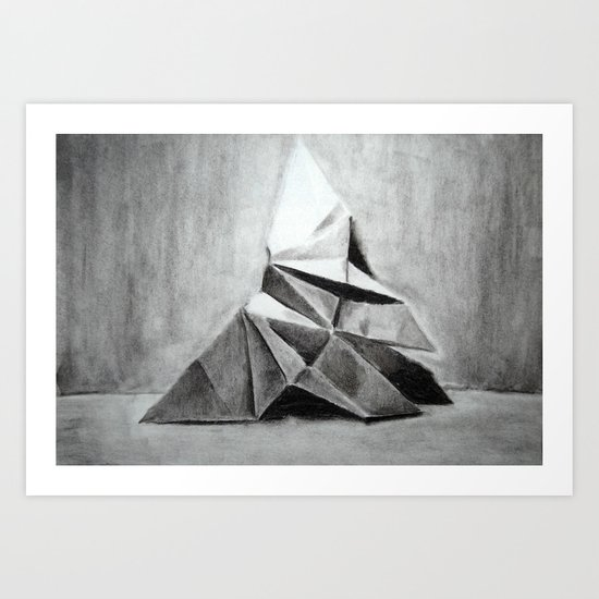 Origami Butterfly Art Print