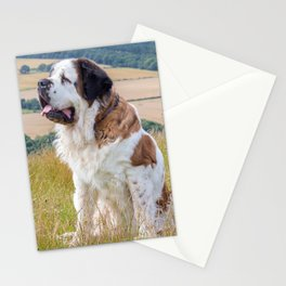 St Bernard dog Stationery Cards