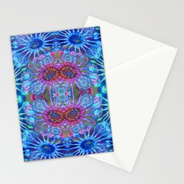 Passionflower Fractal Floral Stationery Cards