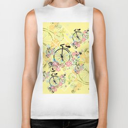 Bicycle with floral ornament Biker Tank