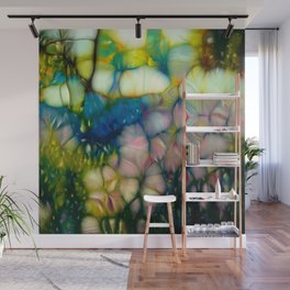 flowers in sunny forest Wall Mural