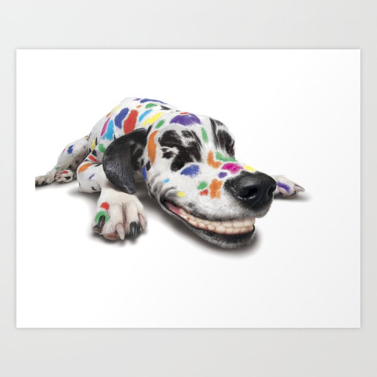 Spotted dog Art Print