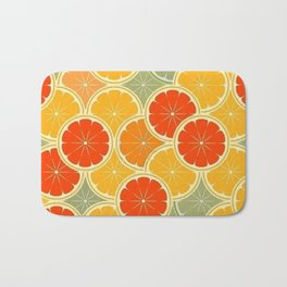 Summer Citrus Slices Bath Mat