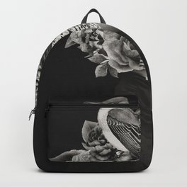 Lady with Birds(portrait) Backpack