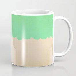 A Single Mint Scallop Coffee Mug