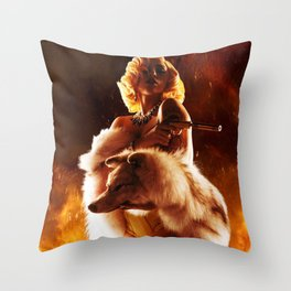 La Chamaleon. Throw Pillow