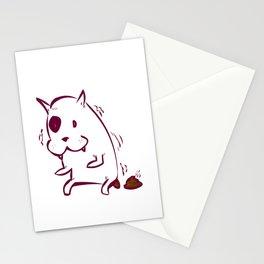 dog poo Stationery Cards