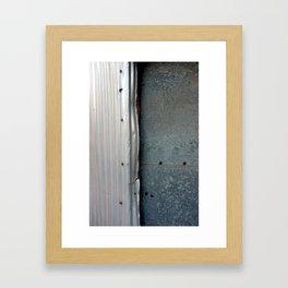 Steel Bolts Framed Art Print