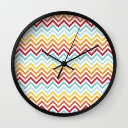 Rainbow Chevron #2 Wall Clock
