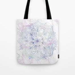 Marble Mandala - Purple Blue Rose Gold Tote Bag