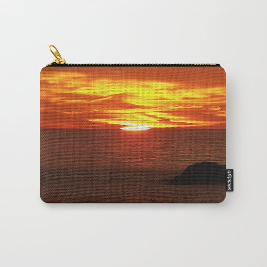 Flaming Skies Across the Sea Carry-All Pouch
