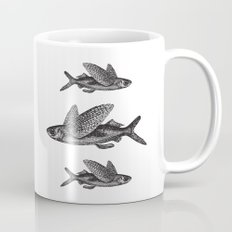 Flying Fish | Black and White Mug