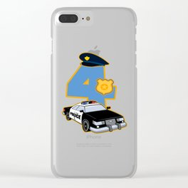 4th Birthday Police 4 Years Officer Costume Gift Clear iPhone Case