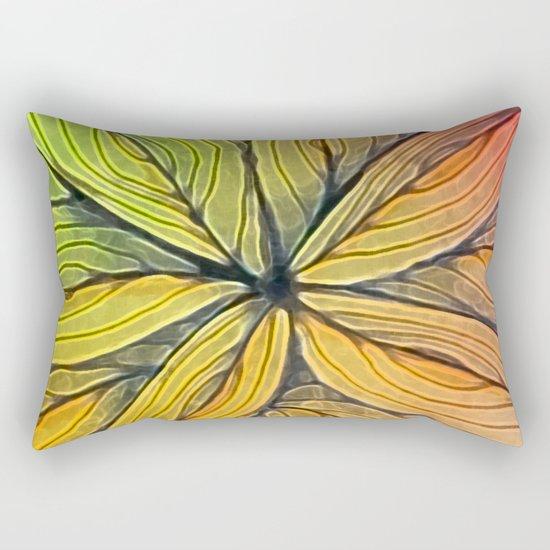 Doodled Aura-Leah Digitized Macro Rectangular Pillow