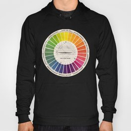 Vintage Color Wheel - Art Teaching Tool - Rainbow Mood Chart Pride Hoody