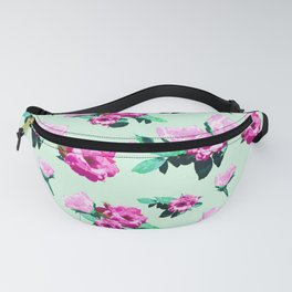 Floral Two-Pink Fanny Pack