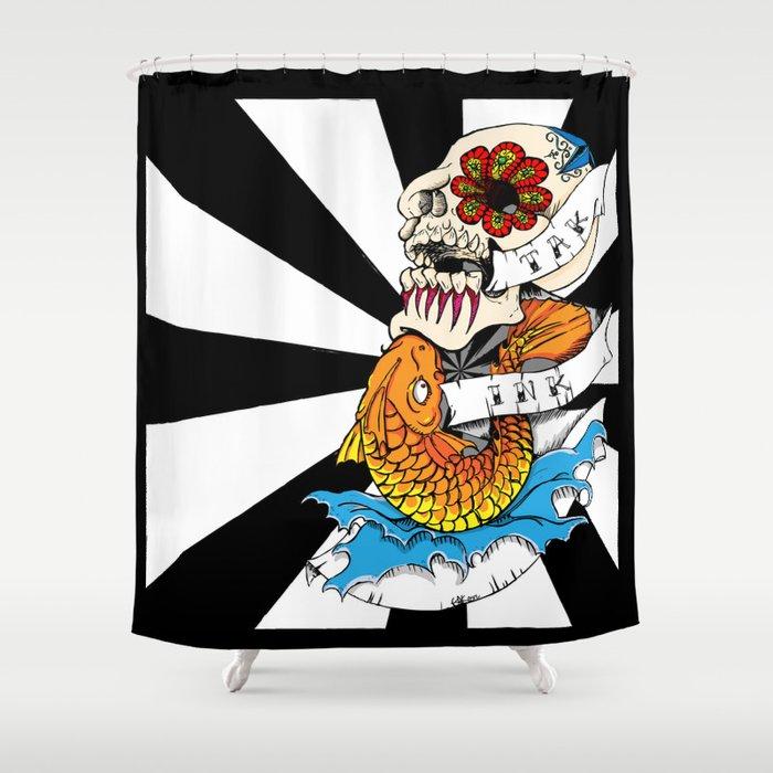 Old School Tattoo Shower Curtain By Takatak
