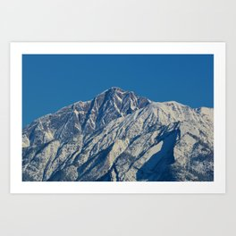 Fresh snow on the mountains of Jasper National Park Art Print