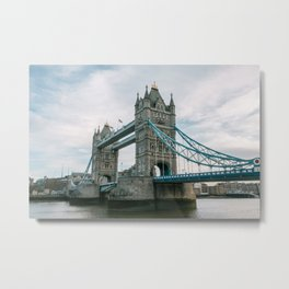 Historical Landmark Tower Bridge on River Thames Metal Print