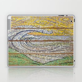 Waves on Grain Laptop & iPad Skin