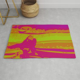 Eye of Tiger Green - Purple - Pink Abstract Vector Texture Rug