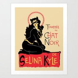 Black Cat Selina Art Print
